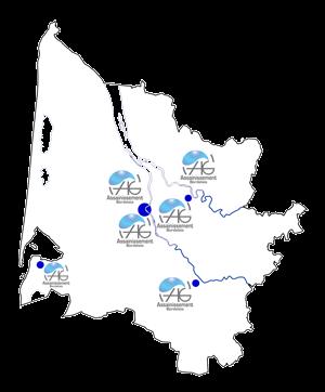 Carte de la Gironde