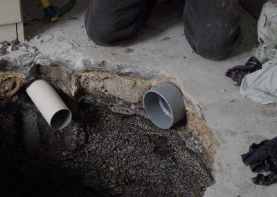 ajustement d'un second manchon de canalisation