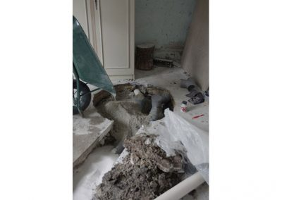 1m3 cube de sable a été nécessaire pour combler la fosse septique