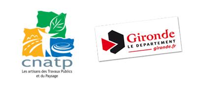 Logo gironde.fr et logo CNATP