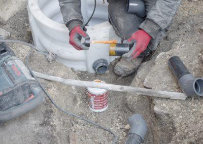Encollage des tuyaux
